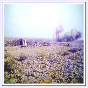 Explsión cerca del campamento