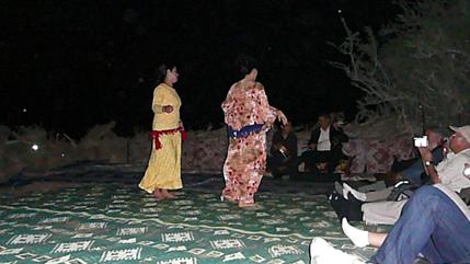 Baile en el campamento