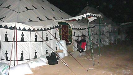 La haima comedor del campamento