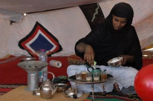 Preparando el te