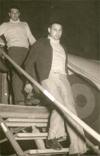 Andrés Moran a su llegada al Aaiún