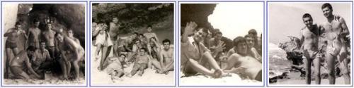 Amb els amics a la platja de Villa Cisneros